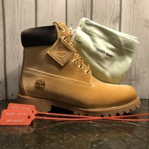 Timberland x Off White Tan & Brown Velvet A1Q8L